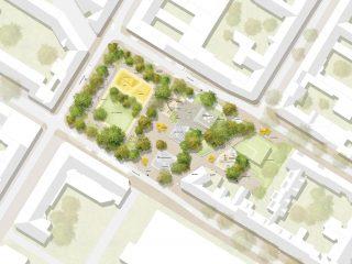 Neugestaltung Swanseaplatz in Mannheim
